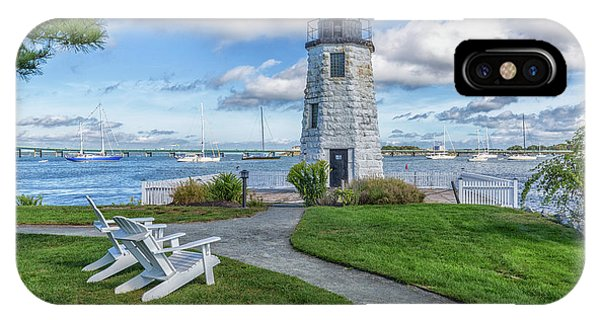 Chairs At Newport Harbor Lighthouse IPhone Case