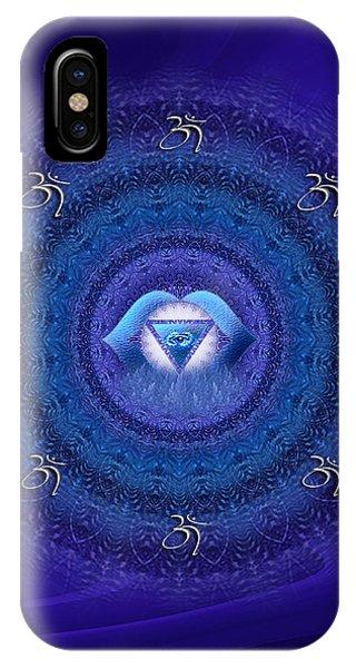 Chakra Mandala Art - Ajna Chakra Mandala By Rgiada IPhone Case