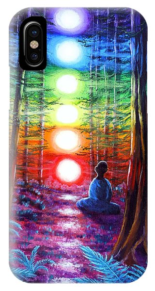Lgbt iPhone Case - Chakra Meditation In The Redwoods by Laura Iverson