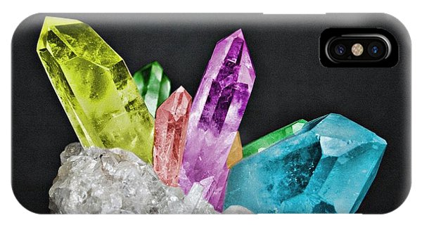 IPhone Case featuring the photograph Chakra Rock Crystal - Geode Series by Marianna Mills