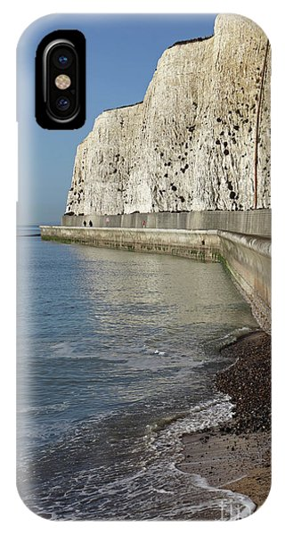 Chalk Cliffs At Peacehaven East Sussex England Uk IPhone Case