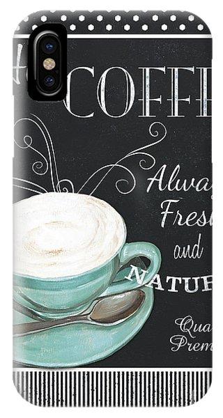 Relaxation iPhone Case - Chalkboard Retro Coffee Shop 1 by Debbie DeWitt