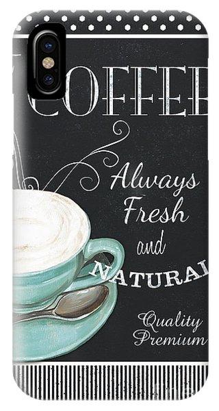 Cafe iPhone Case - Chalkboard Retro Coffee Shop 1 by Debbie DeWitt