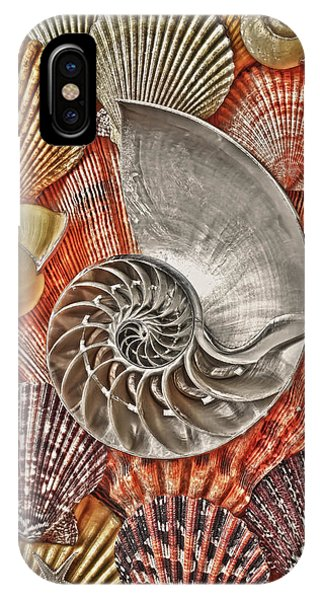 Surrealistic iPhone Case - Chambered Nautilus Shell Abstract by Garry Gay