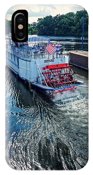 IPhone Case featuring the photograph Champlain Canal Patriot by Kendall McKernon