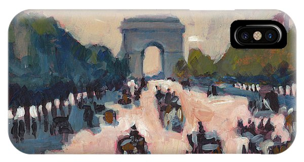 Briex iPhone Case - Champs Elysees Paris by Nop Briex