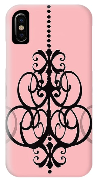 Chandelier Delight 1- Pink Background IPhone Case