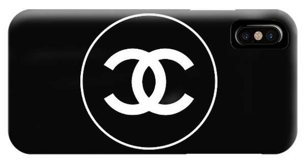 Logo iPhone Case - Chanel - Black And White 02 - Lifestyle And Fashion by TUSCAN Afternoon