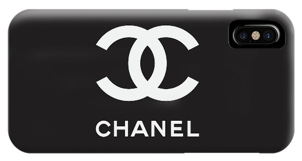 Logo iPhone Case - Chanel - Black And White 03 - Lifestyle And Fashion by TUSCAN Afternoon
