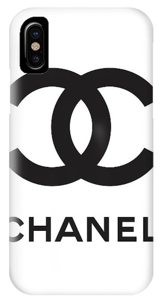 Logo iPhone Case - Chanel - Black And White 04 - Lifestyle And Fashion by TUSCAN Afternoon