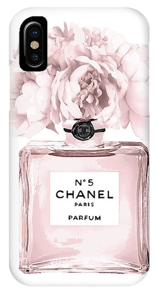 Perfume iPhone Case - Chanel N.5 Perfume 9 by Del Art