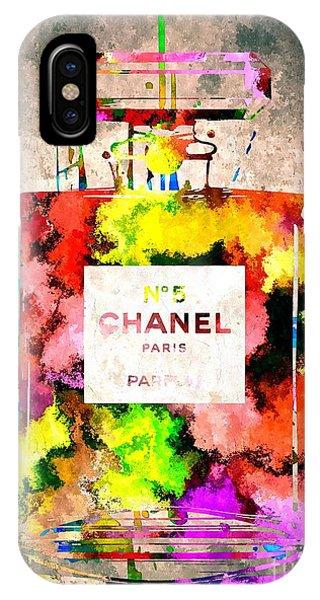 Chanel No 5 Grunge IPhone Case