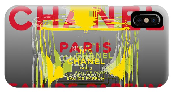 Perfume Bottles iPhone Case - Chanel  No. 5 Pop Art - #1 by Jean luc Comperat