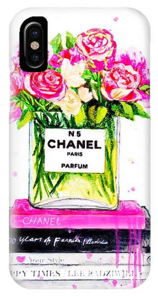 Designer iPhone Case - Chanel Nr 5 Flowers With  Perfume by Del Art
