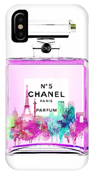 Designer iPhone Case - Chanel Perfume Pink by Del Art