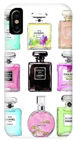 Designer iPhone Case - Chanel Perfume Set 9er by Del Art