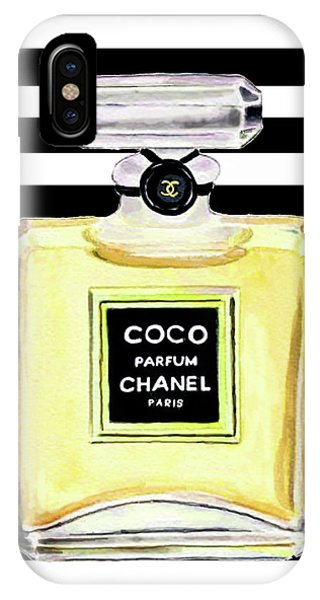 Designer iPhone Case - Chanel Perfume Yellow Chanel Poster Chanel Print by Del Art
