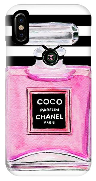 Perfume iPhone Case - Chanel Pink Perfume 1 by Del Art