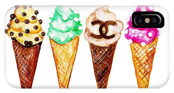 Designer iPhone Case - Chanel Poster Art Print  Ice Cream Print by Del Art