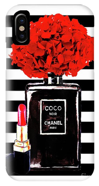 Perfume iPhone Case - Chanel Poster Chanel Print Chanel Perfume Print Chanel With Red Hydragenia 3 by Del Art