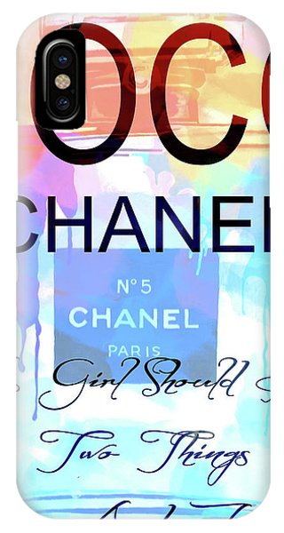 iPhone Case - Chanel Watercolor Quote by Dan Sproul