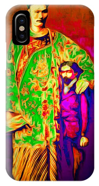Barnum And Bailey iPhone Case - Chang The Chinese Giant 20151222 Long by Wingsdomain Art and Photography