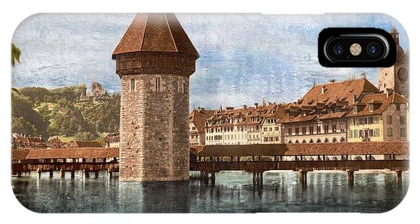 Chapel Bridge In Lucerne IPhone Case