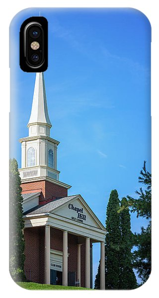 Chapel iPhone Case - Chapel Hill Golf Course Clubhouse by Tom Mc Nemar