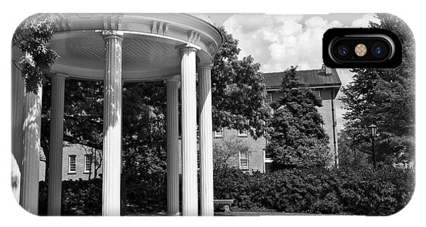Chapel Hill Old Well In Black And White IPhone Case