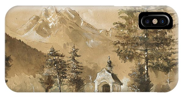 Art Cow iPhone Case - Chapel In The Forest by Juan Bosco