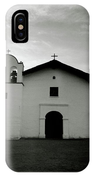 Black And White Art iPhone Case - Chapel In The Shadows- Art By Linda Woods by Linda Woods