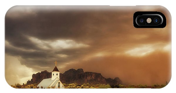 Chapel In The Storm IPhone Case