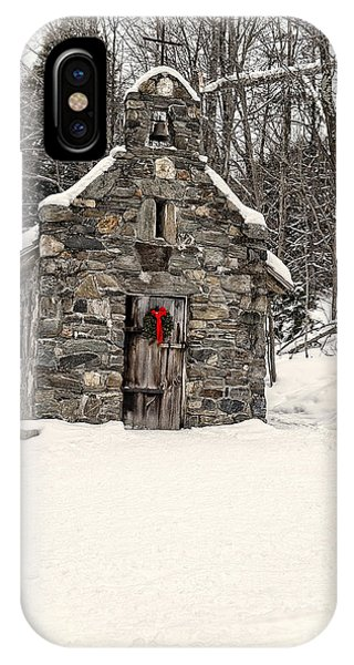 Chapel iPhone Case - Chapel In The Woods Stowe Vermont by Edward Fielding
