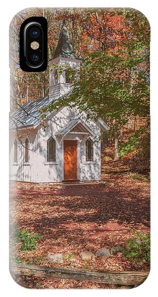 Chapel In Woods At Red Mill 3 IPhone Case