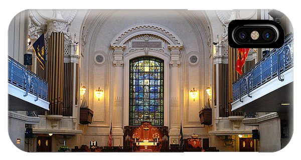 Chapel Interior - Us Naval Academy IPhone Case