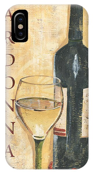 Tan iPhone Case - Chardonnay Wine And Grapes by Debbie DeWitt