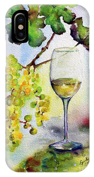 Chardonnay Wine Glass And Grapes IPhone Case