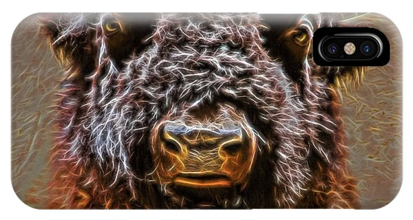 IPhone Case featuring the digital art Charging Bison by Ray Shiu