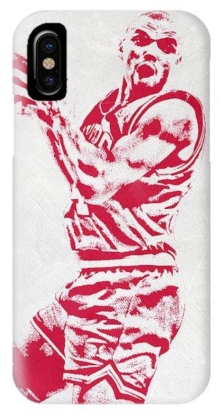 Ball iPhone Case - Charles Barkley Philadelphia Sixers Pixel Art by Joe Hamilton