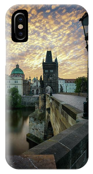 Charles Bridge, Prague, Czech Republic IPhone Case