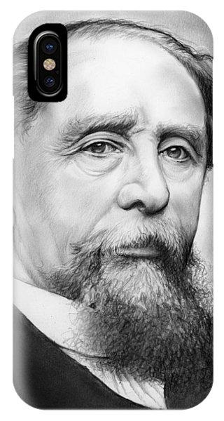 19th Century iPhone Case - Charles Dickens by Greg Joens