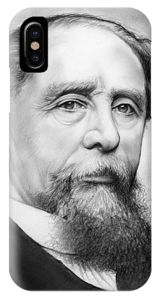 Charles iPhone Case - Charles Dickens by Greg Joens