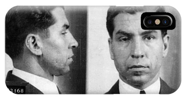 Charles Lucky Luciano Mug Shot 1931 Horizontal IPhone Case