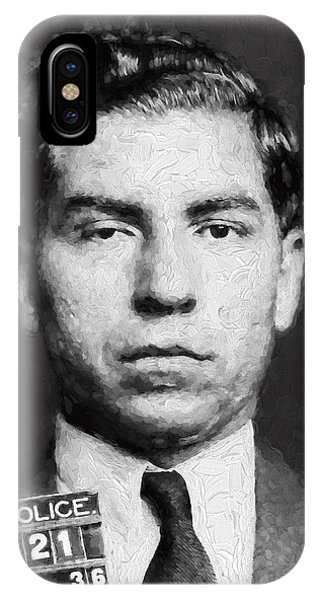Charles Lucky Luciano  Mugshot Painterly IPhone Case