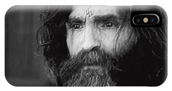 Charles Manson Screen Capture Circa 1970-2015 IPhone Case