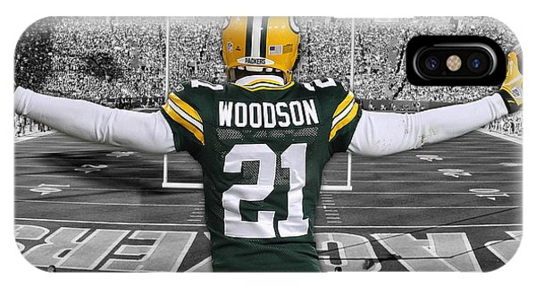 Nfl iPhone Case - Charles Woodson Green Bay Packers Stadium Art 2 by Joe Hamilton