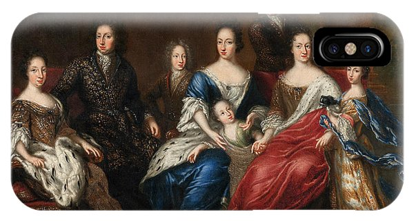 King Charles iPhone Case - Charles Xi's Family With Relatives From The Duchy Holstein-gottorp by David Klocker Ehrenstrahl