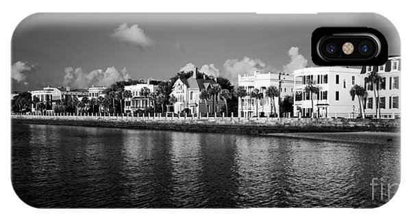 Charleston Battery Row Black And White IPhone Case