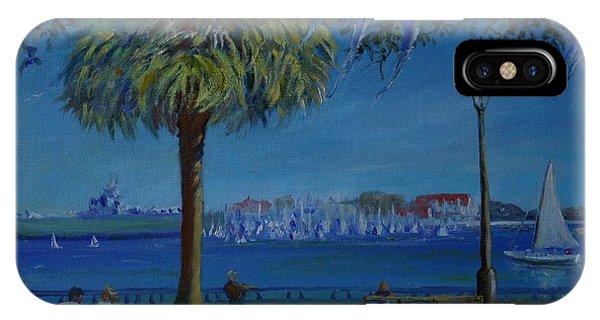 Charleston Harbor Sunday Regatta IPhone Case