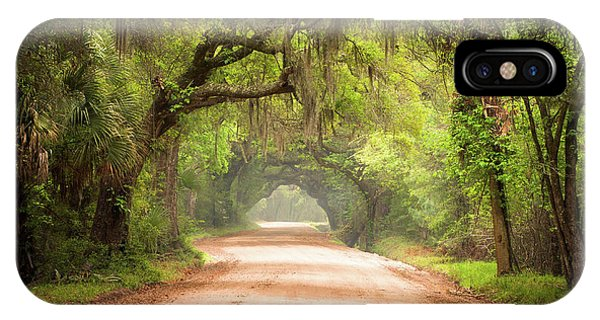 Road iPhone Case - Charleston Sc Edisto Island Dirt Road - The Deep South by Dave Allen